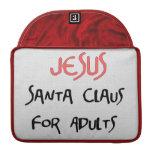 Jesus Is Santa For Adults MacBook Pro Sleeves