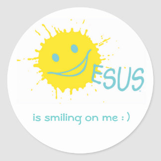 Jesus is smiling on me ! Sticker