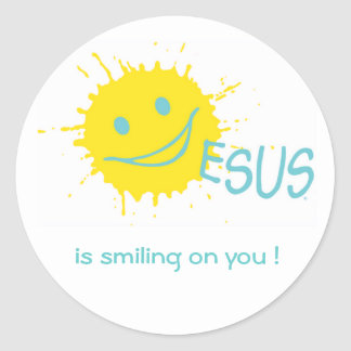 Jesus is smiling on you ! Sticker Sticker