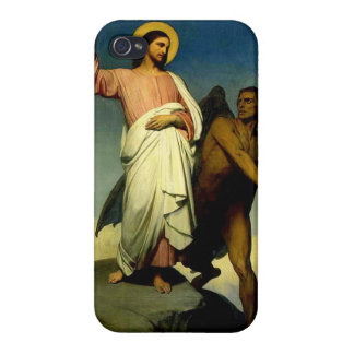 Jesus is tempted by Satan Case For iPhone 4