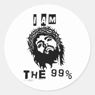 Jesus Is The 99% Classic Round Sticker