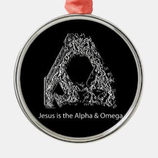 Jesus is the Alpha & Omega Metal Ornament