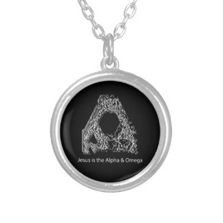 Jesus is the Alpha & Omega Silver Plated Necklace