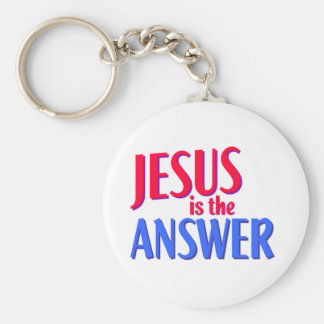 Jesus is the answer Christian gift design Keychain