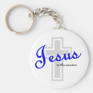 Jesus is the answer keychain