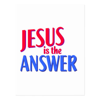 Jesus is the answer postcard