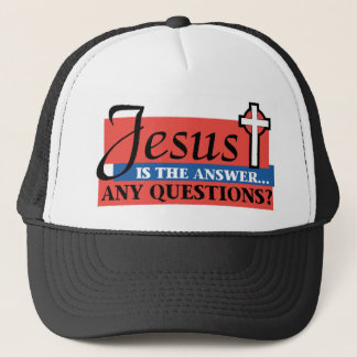Jesus Is The Answer Trucker Hat