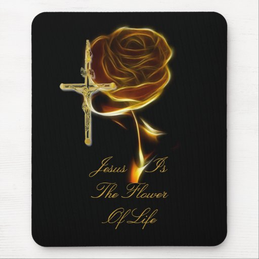 JESUS IS THE FLOWER OF LIFE MOUSE PAD