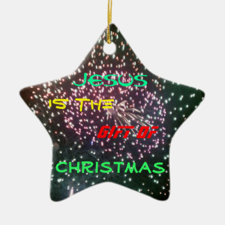 Jesus is the Gift ornament