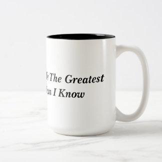 Jesus Is The Greatest Man I Know Two-Tone Coffee Mug