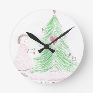 Jesus is the Heart of Christmas Round Clock