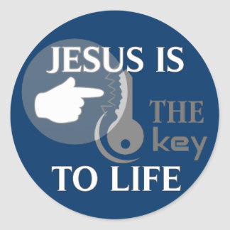 JESUS IS THE KEY TO LIFE CLASSIC ROUND STICKER