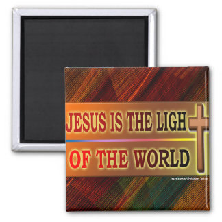 JESUS IS THE LIGHT 2 INCH SQUARE MAGNET