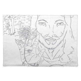 Jesus is the light of our world cloth placemat