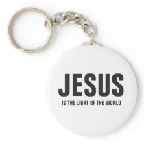 Jesus Is The Light Of The World Keychain