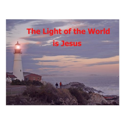 Jesus is the Light of the World! Postcard