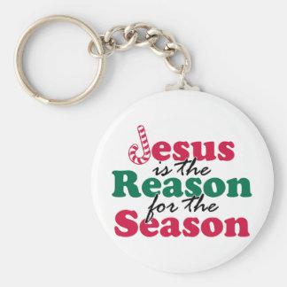 Jesus is the Reason Basic Round Button Keychain