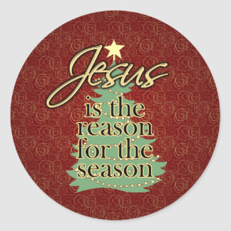 Jesus is the Reason Christian Christmas Classic Round Sticker