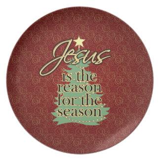 Jesus is the Reason Christian Christmas Dinner Plate