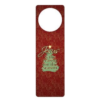 Jesus Is The Reason Christian Christmas Door Hanger