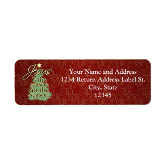 Jesus is the Reason Christian Christmas Label