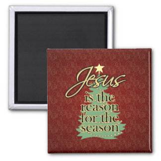 Jesus is the Reason Christian Christmas Magnet