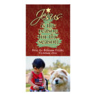 Jesus is the Reason Christian Christmas Photo Card Template