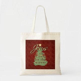 Jesus is the Reason Christian Christmas Tote Bag