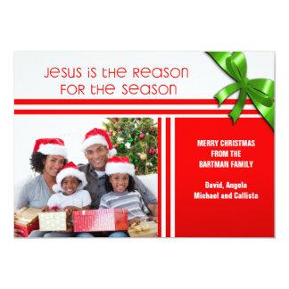 Jesus Is the Reason Christian Custom Photo Card