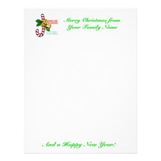 Jesus is the Reason Christmas Letter Stationery Letterhead