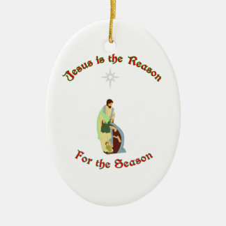 Jesus is the Reason Christmas Ornament