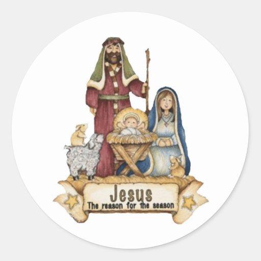 Jesus Is The Reason Classic Round Sticker