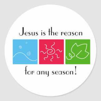 Jesus is the Reason for Any Season Sticker