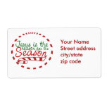 Jesus is the Reason for Christmas Season Shipping Label