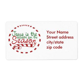 Jesus is the Reason for Christmas Season Label