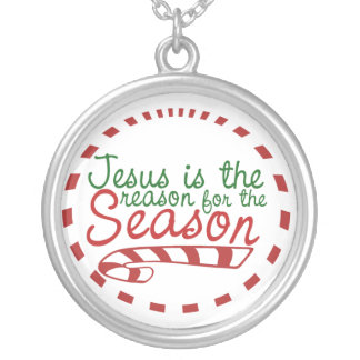 Jesus is the Reason for Christmas Season Silver Plated Necklace