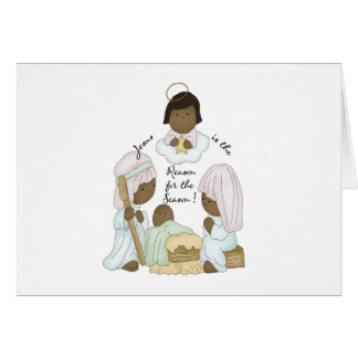 Jesus is the reason for the season (African Ameri) Card