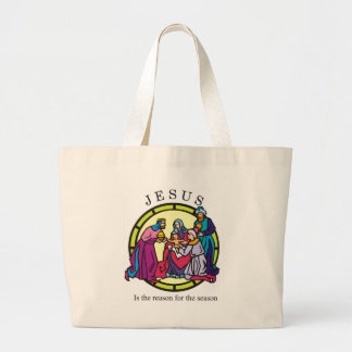 Jesus is the Reason for the Season Canvas Bags