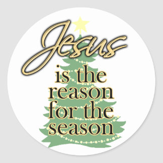 Jesus is the Reason for the Season, Christmas Classic Round Sticker