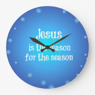 Jesus is the reason for the Season Christmas Clock