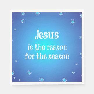 Jesus is the reason for the Season Christmas Standard Luncheon Napkin