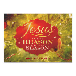 Jesus Is The Reason For The Season Holiday Card