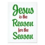 "Jesus is the Reason for the Season 5"" X 7"" Invitation Card"