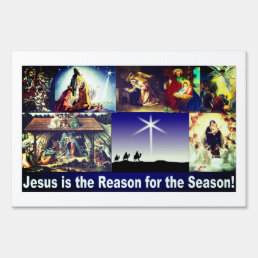 Jesus is the reason for the season! lawn sign