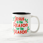 Jesus Is The Reason For The Season Two-Tone Coffee Mug
