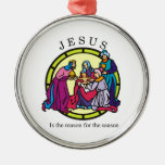 Jesus is the Reason for the Season Christmas Ornaments