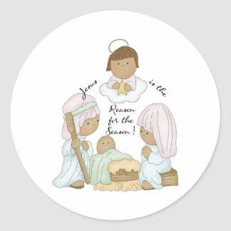 Jesus is the reason for the season round stickers