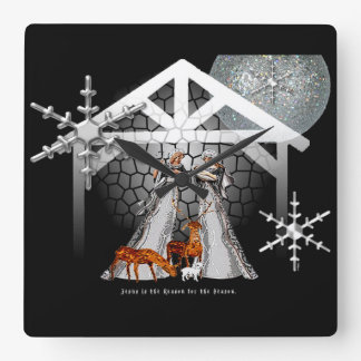 Jesus is the Reason for the Season. Square Wall Clock