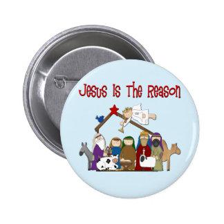 Jesus Is the Reason Manger Scene Pin