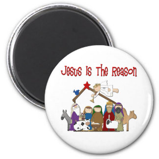 Jesus Is the Reason Manger Scene Magnet